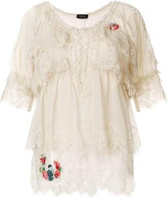 Twin-Set frill short-sleeve blouse
