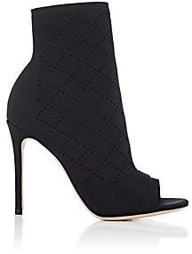 Gianvito Rossi Women's Perforated Knit Ankle Boots - Black
