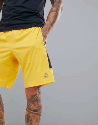 Reebok Training Woven Shorts In Yellow DN9394