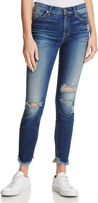 7 For All Mankind The Ankle Destroyed Skinny Jeans in Liberty