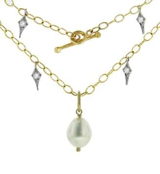 Cathy Waterman 21 Inch Diamond Fringe Chain Necklace