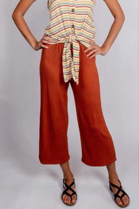 Love Tree Elastic-Waist Button Trousers