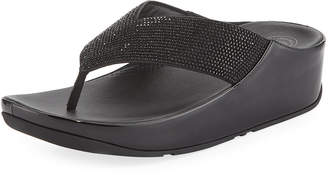 FitFlop Crystall Platform Thong Sandal