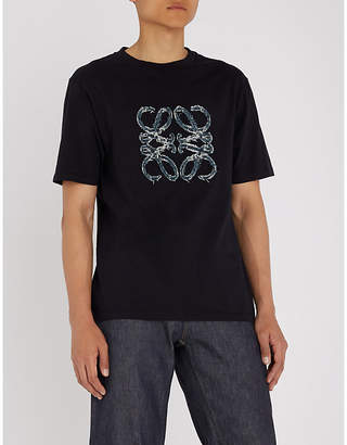 Loewe Anagram-embroidered cotton-jersey T-shirt