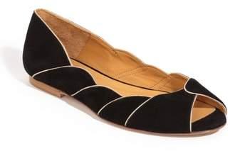 Sezane Suzanne Peep Toe Flat