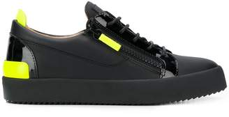 fluo details lace-up sneakers