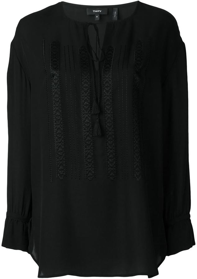 Theory Theory embroidered drawstring tunic