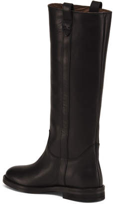 Made In Italy Tall Rugged Pull On Leather Boots
