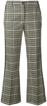 P.A.R.O.S.H. checked kickflare trousers