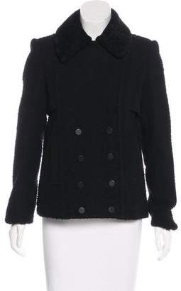 Alexander Wang Textured Double-Breasted Coat