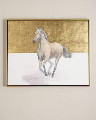 """Golden Dame"" Horse Giclee on Canvas Wall Art"