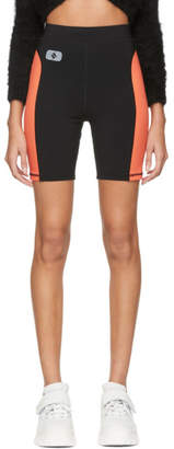 Alexander Wang Black and Orange Jersey Biker Shorts