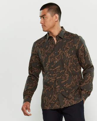 Antony Morato Tiger Print Long Sleeve Shirt