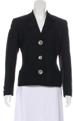 Gianni Versace Cropped Notch-Lapel Jacket