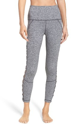 Women's Zella Lace It Up High Waist Midi Leggings $65 thestylecure.com