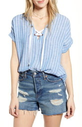 Rails Jeri Lace-Up Shirt