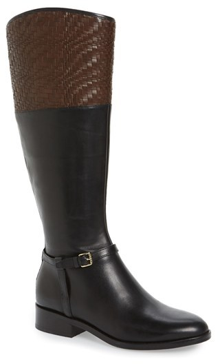Cole Haan  Women's Cole Haan 'Genevieve' Woven Cuff Riding Boot