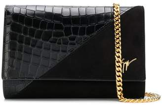 Giuseppe Zanotti Design Cleopatra croc-effect crossbody bag