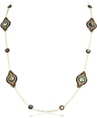 Miguel Ases Abalone Station Long Necklace