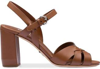Prada strappy block heel sandals