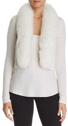 Bloomingdale's C by Fox Fur-Trim Cashmere Bolero - 100% Exclusive