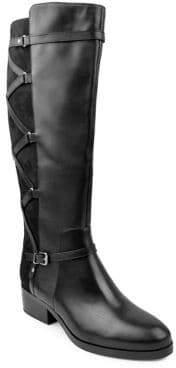 Adrienne Vittadini Mickey Suede and Leather Knee-High Boots