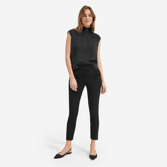 Everlane The Clean Silk Charmeuse Tie Neck Blouse