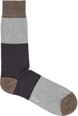 Reiss Cluster Colour Blocked Socks