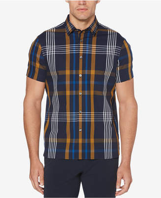Perry Ellis Men's Oversized Plaid-Print Classic Fit Shirt