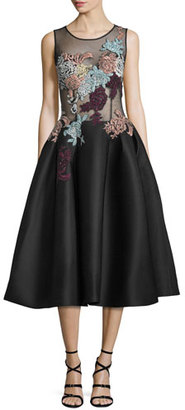 Jovani Sleeveless Embroidered Fit & Flare Dress $760 thestylecure.com