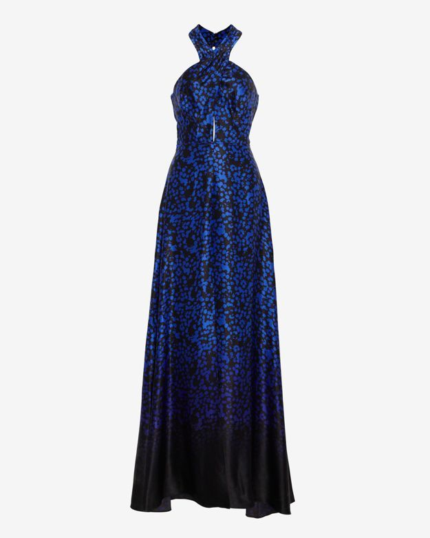 Intermix Exclusive For Printed Silk Keyhole Gown