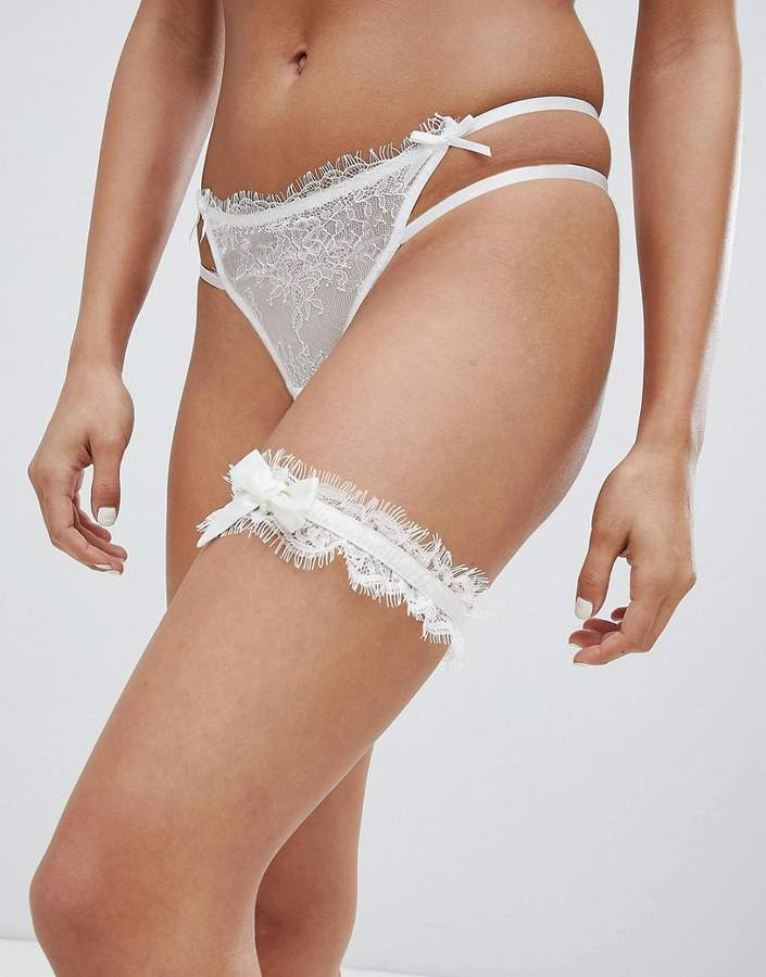 ASOS BRIDAL Satin & Lace Garter
