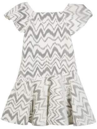 Kenzie Zoe Flocked Knit Zigzag Dress, Size 7-16