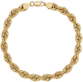 Men's 10k Gold Hollow Rope Bracelet