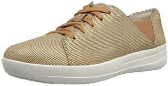 FitFlop Women's F-Sporty Lace-up Sneaker Houndstooth Print Fashion
