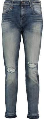 R 13 Boy High-Rise Distressed Skinny Jeans