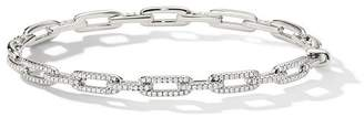David Yurman 18kt white gold Stax diamond chain link bracelet