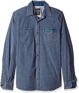 Buffalo David Bitton Men's Saugo-x Ss Slim Stretch Washed Plaid Button Down Shirt