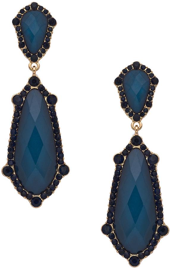 Blu Bijoux Sapphire Dangle Earrings