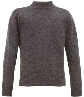 Schnaydermans Schnayderman's - Crew Neck Mohair Blend Sweater - Mens - Grey