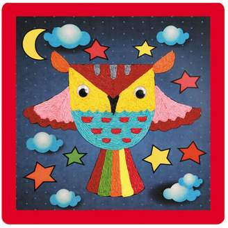 Black Temptation [Cute Owl] Creative Rope Paste Painting Baby's DIY Crafts Toy, Set of 2