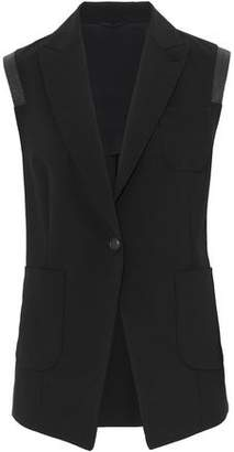 Brunello Cucinelli Bead-Embellished Stretch-Wool Vest