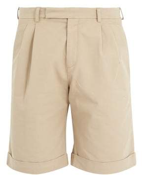 J.W.Anderson Mid Rise Tailored Shorts - Mens - Beige