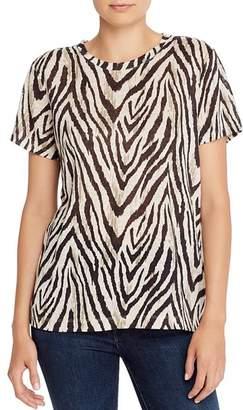 Current/Elliott The Retro Zebra Print Linen Tee - 100% Exclusive