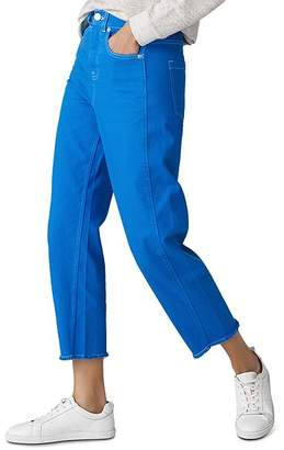 Whistles High Rise Barrel Leg Jeans in Sapphire Blue