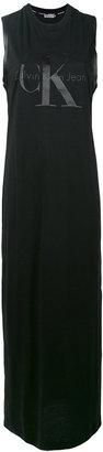 Calvin Klein Jeans logo print tank dress $97.39 thestylecure.com