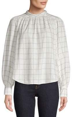 Joie Printed Cotton Blouse