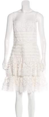 Oscar de la Renta Lace Tiered Dress Lace Tiered Dress