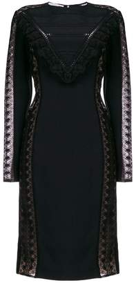 Stella McCartney lace panel fitted dress