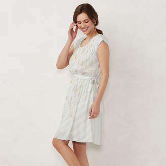 Lauren Conrad NEW! Women's Pleat Neck Dress